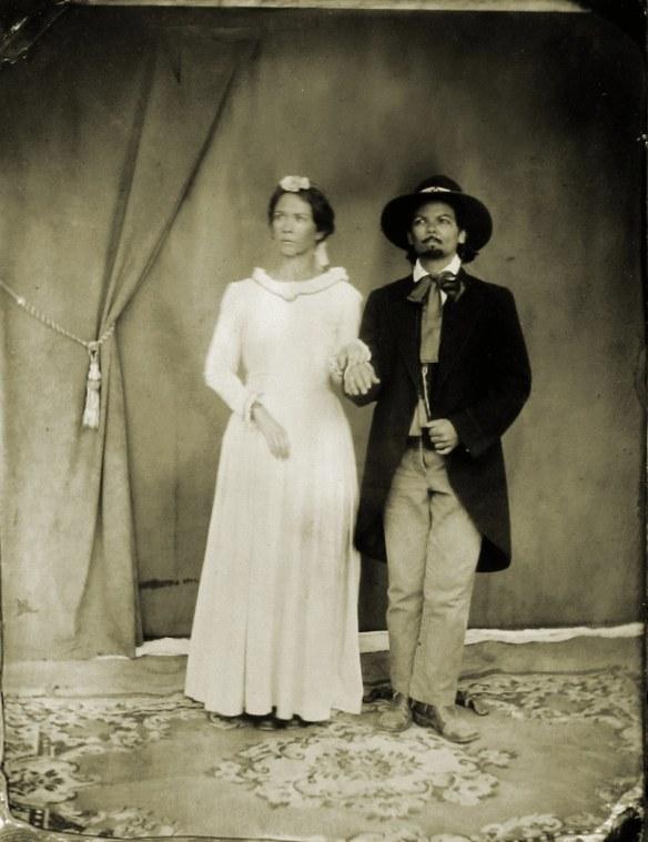 Wedding tintype